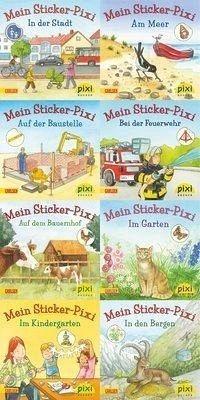 Broschiertes Buch »Pixi-Bundle 8er Serie 199. Meine Sticker-Pixis«
