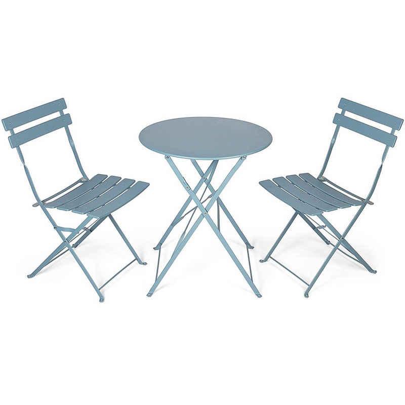VANAGE Gartentisch, Balkon Bistro Set, blau