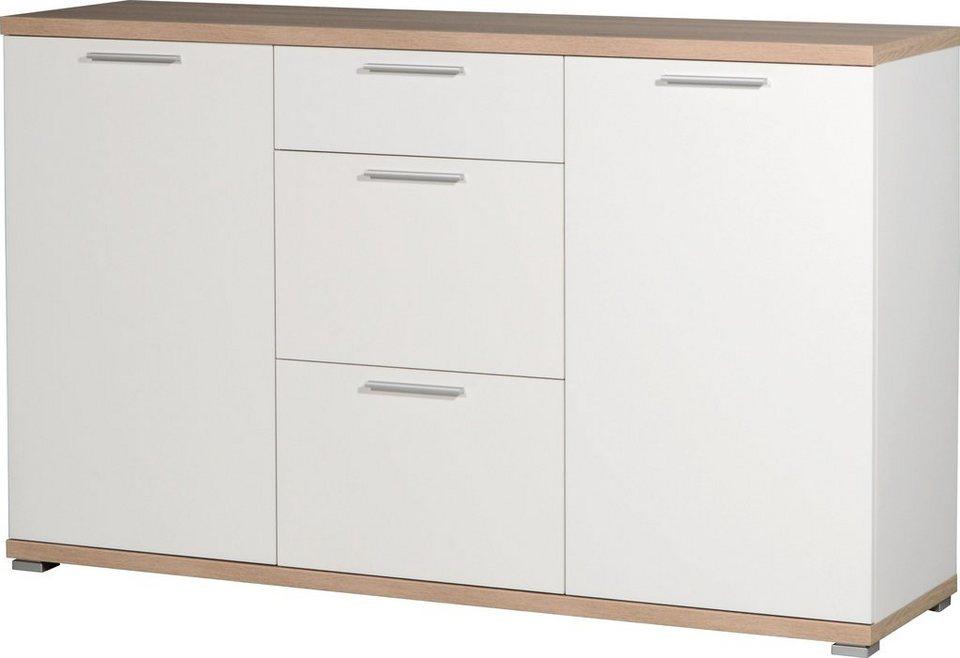 Sideboard »Top«, Breite 144 cm in weiß-eichefarben
