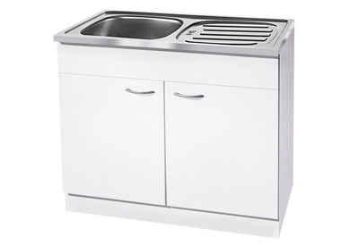 wiho Küchen Spülenschrank »Kiel« 100 cm breit mit Auflagespüle