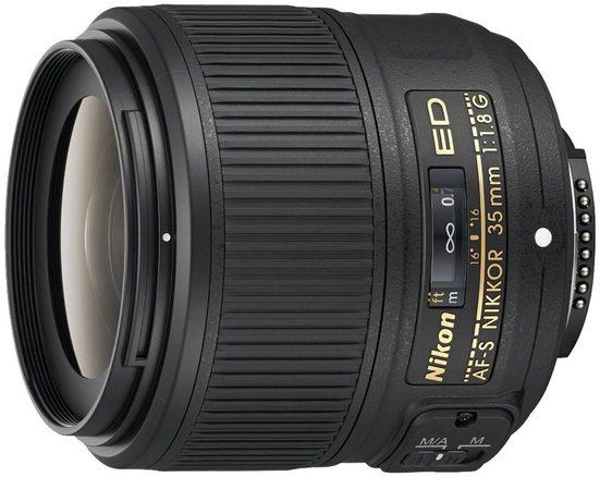 Nikon »AF-S NIKKOR 35mm 1:1,8G ED« Objektiv, (inkl. HB-70 und CL-0915)