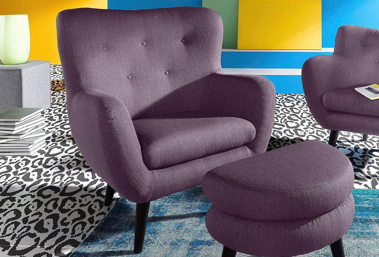 INOSIGN Loungesessel im Retro-Style   Wohnzimmer > Sessel > Loungesessel   Microfaser   INOSIGN