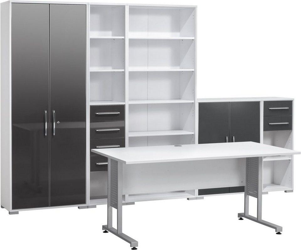 Büromöbel weiß grau  Maja Möbel Büromöbel-Set (6-tlg.) »1200« kaufen | OTTO