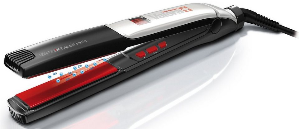 VALERA, Haarglätter, Swiss`X Digital Ionic 100.01/l in schwarz/silber/rot