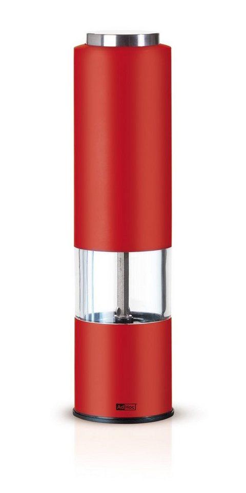 AdHoc Elektrische Salz- und Pfeffermühle »Tropica« in Rot