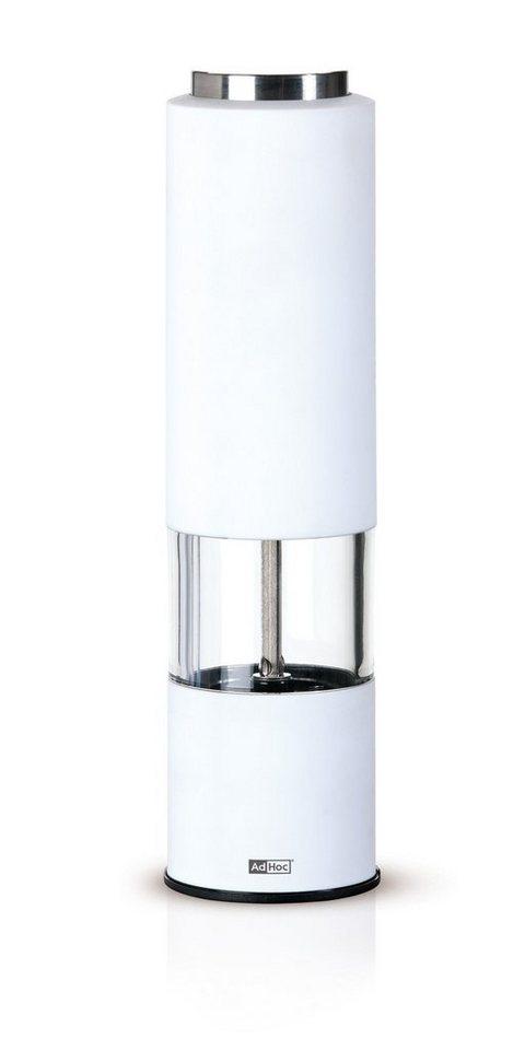 AdHoc Elektrische Salz- und Pfeffermühle »Tropica« in Weiß