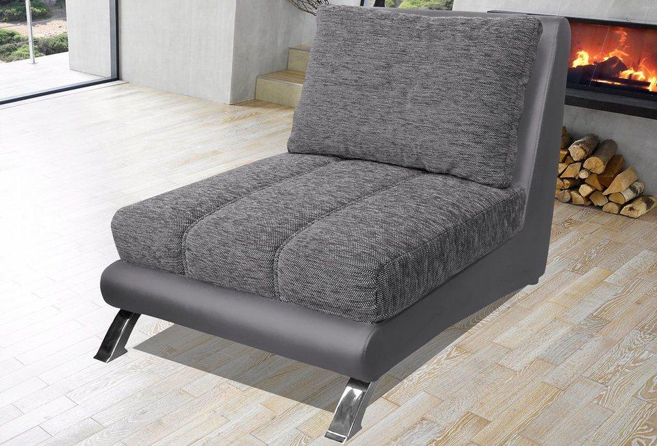 Sessel in schwarz/dunkelgrau