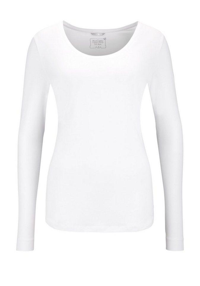 MUSTANG Shirt in weiß