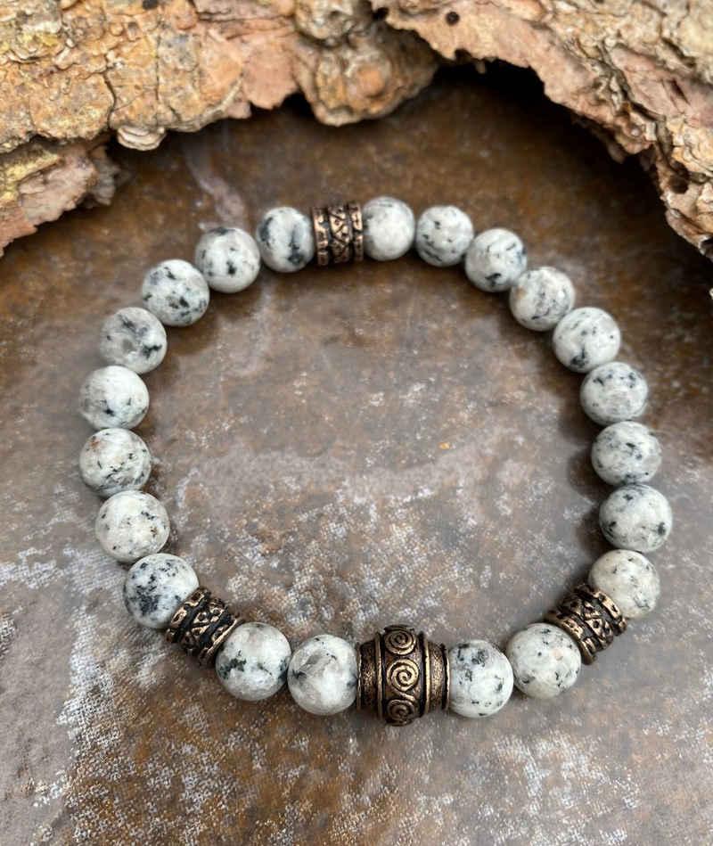 NAHLE Perlenarmband »Howlith Armband Naturstein«, mit Garantie