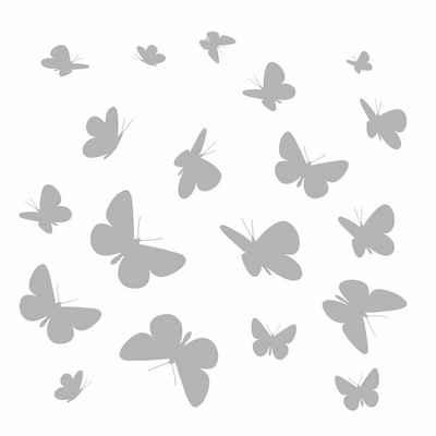 Komar Fensterbild »Schmetterlinge«, 31x31 cm, selbsthaftend