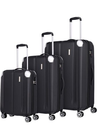 travelite Trolleyset »City schwarz« 4 ratukai su...