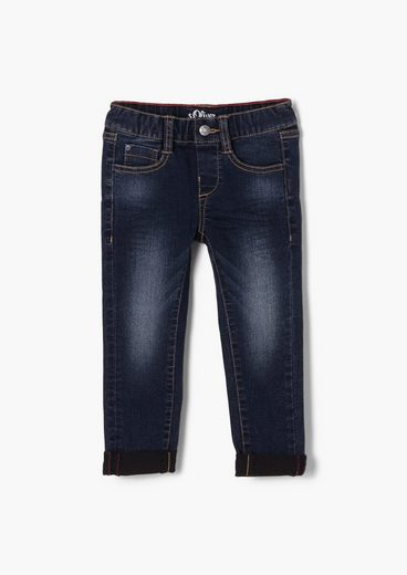 s.Oliver 5-Pocket-Jeans »Slim Fit: Joggstyle-Denim« Zierknopf