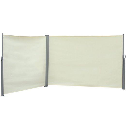 Outsunny Balkonsichtschutz »Doppel-Seitenmarkise 6 x 1,6 m«