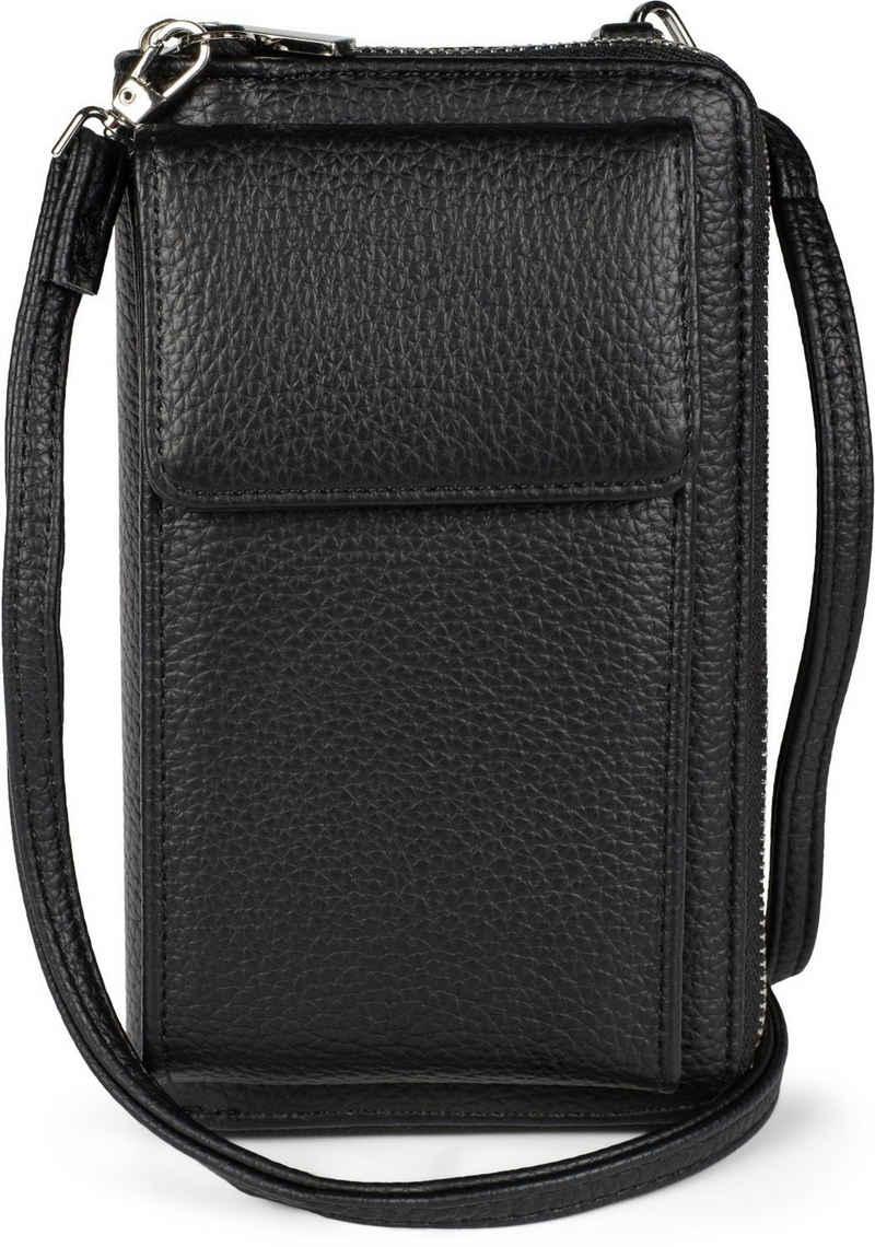 styleBREAKER Mini Bag, Geldbörse mit Handyfach - Umhängetasche RFID Schutz