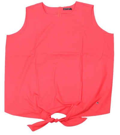 JETTE Blusentop »JETTE Oversize Shirt schickes Damen Blusen-Top mit Knoten-Detail Große Größen Sommer-Shirt Rot«