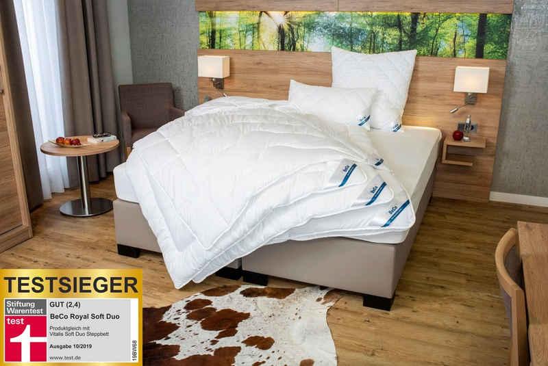 Microfaserbettdecke, »Royal Soft Duo«, Beco, Füllung: Polyester, Stiftung Warentest-Testsieger Duo-Steppbett 135x200, warm