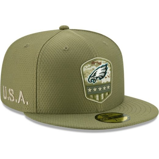 New Era Fitted Cap »59Fifty Salute to Service Philadelphia Eagles«