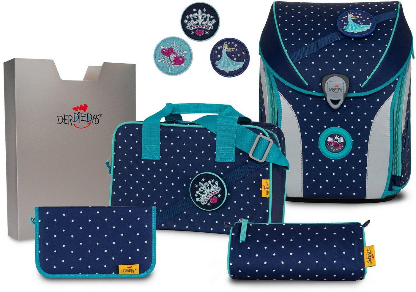 derdiedas® -  Schulranzen »ErgoFlex MAX Buttons - Star Princess« (Set), mit 3 Buttons