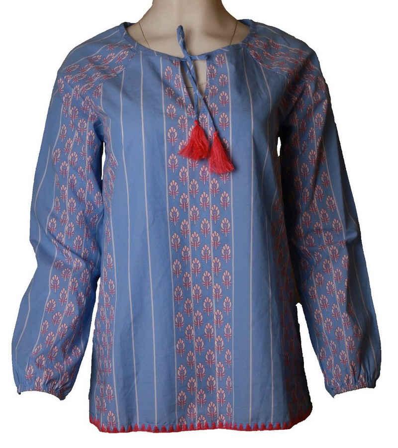 Lieblingsstück Blusentop »LIEBLINGSSTÜCK Sommer-Bluse luftige Damen Casual-Bluse Mode-Bluse Blau/Weiß«