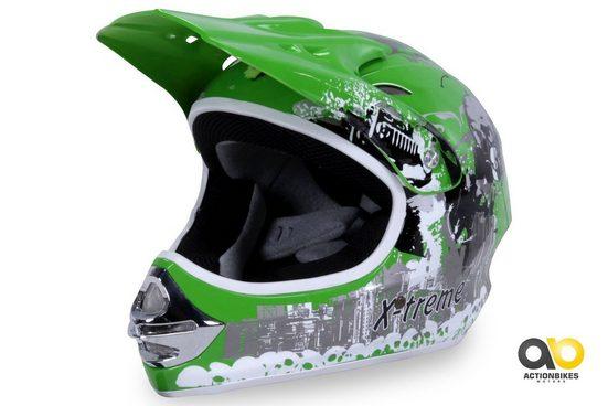 Actionbikes Motors Motocrosshelm »X-treme Grün«