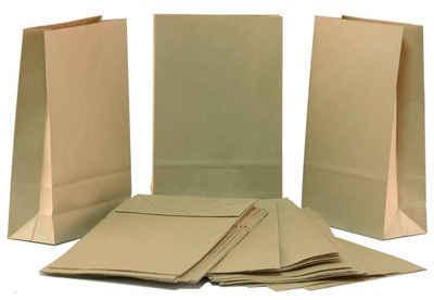 BigDean Kraftpapier »Papiertüten braun DIY 25er Pack 27cm x 17cm − Kraftpapiertüten groß zum Basteln und Gestalten − Papierbeutel für Geburtstag, Weihnachten & als Adventskalender«