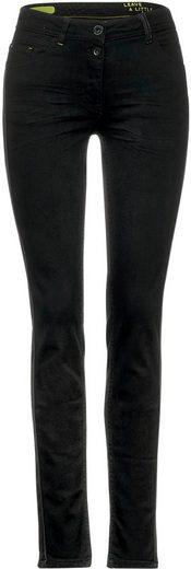 Cecil Slim-fit-Jeans mit seitlichem Einsatz
