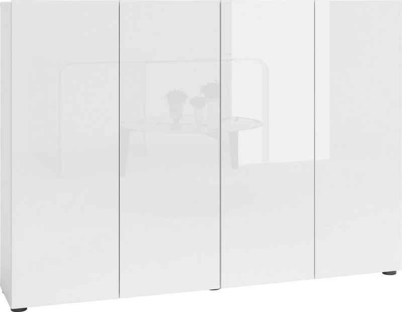 KITALY Schuhschrank »Mister« Breite 160 cm, 4 Türen, Hochglanz Lackierung