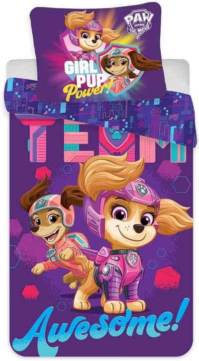 """Kinderbettwäsche »PAW Patrol - Kinder-Bettwäsche-Set für Mädchen """"Der Kinofilm-The Movie"""", 135x200 & 80x80 cm«, PAW PATROL, 100% Baumwolle"""