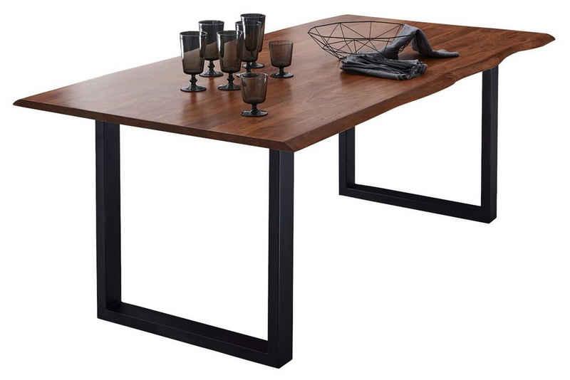 SAM® Baumkantentisch »Augusta«, Akazie Massivholz nussbaumfarben 26mm natürliche Baumkante
