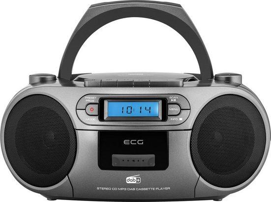 ECG »CDR 999« Digitalradio (DAB) (Digitalradio (DAB), FM Digital Tuner, Kassettenplayer, CD-Player, MP3 / WMA-Musikwiedergabe vom USB-Laufwerk)