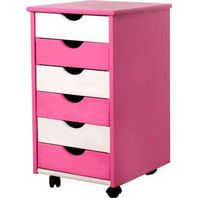 MyToys-COLLECTION Rollcontainer »Rollcontainer PIJII, pink/weiß von Inter Link«