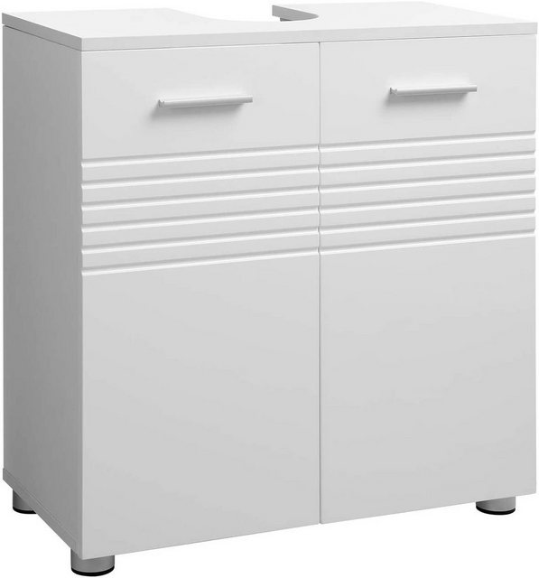 Badschränke - VASAGLE Waschbeckenunterschrank »BBK01WT« Badezimmerschrank, Badschrank, weiß  - Onlineshop OTTO