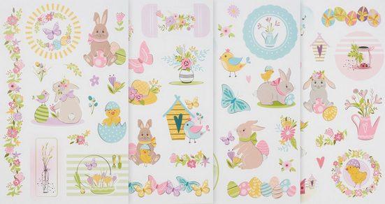 URSUS Sticker »Süßes Osterfest«, 4 Bogen