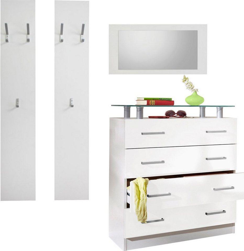 borchardt m bel garderoben set vaasa 1 3 tlg mit glasablage online kaufen otto. Black Bedroom Furniture Sets. Home Design Ideas