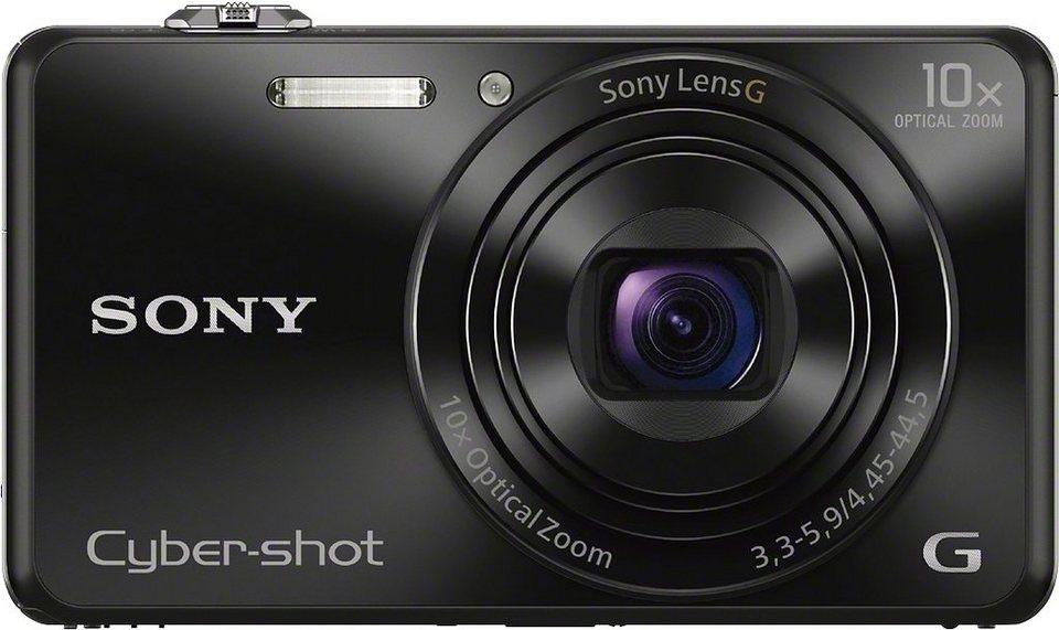 Sony Cyber-Shot DSC-WX220 Kompakt Kamera, 18,2 Megapixel, 10x opt. Zoom, 6,8 cm (2,7 Zoll) Display in schwarz
