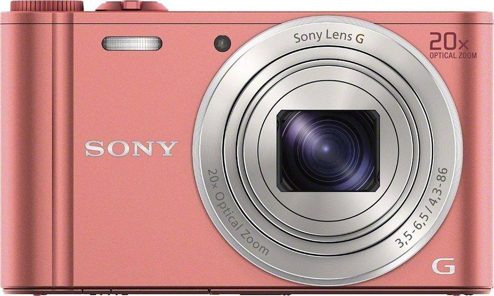 Sony Cyber-Shot DSC-WX350 Kompakt Kamera, 18,2 Megapixel, 20x opt. Zoom, 7,5 cm (3 Zoll) Display in rosa