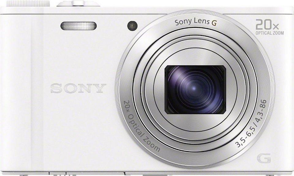 Sony Cyber-Shot DSC-WX350 Kompakt Kamera, 18,2 Megapixel, 20x opt. Zoom, 7,5 cm (3 Zoll) Display in weiß