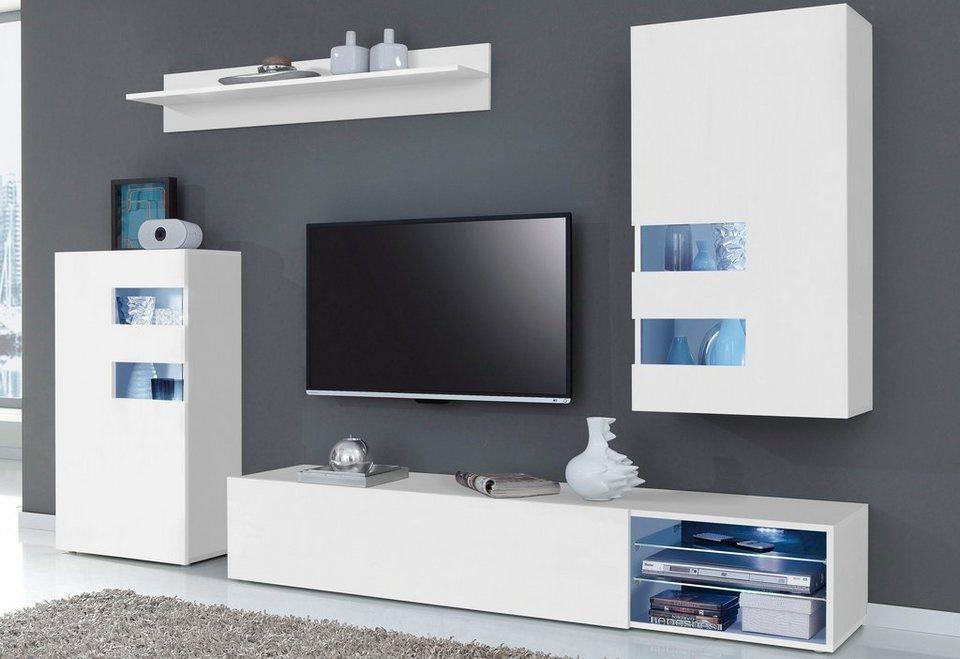 tecnos wohnwand 4 tlg online kaufen otto. Black Bedroom Furniture Sets. Home Design Ideas