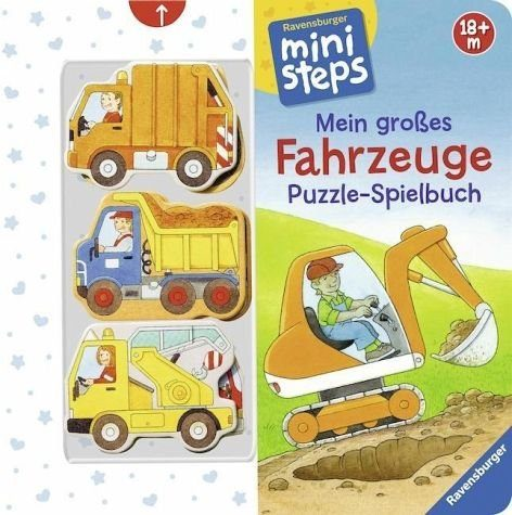 Buch mit Papp-Einband »Mein großes Fahrzeuge Puzzle-Spielbuch«