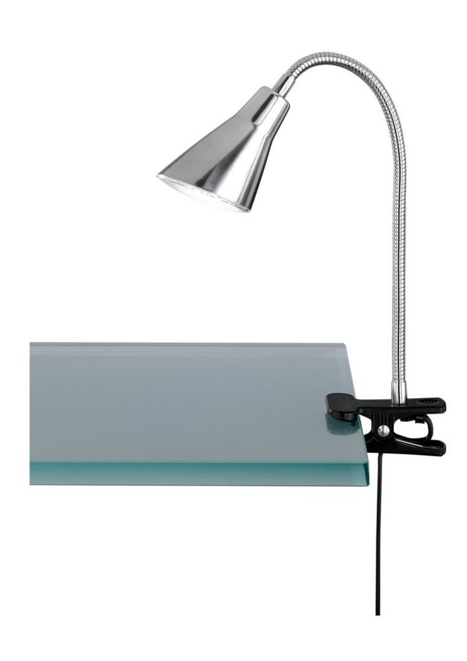 LED-Klemmlampe, Trio in nickelfarben