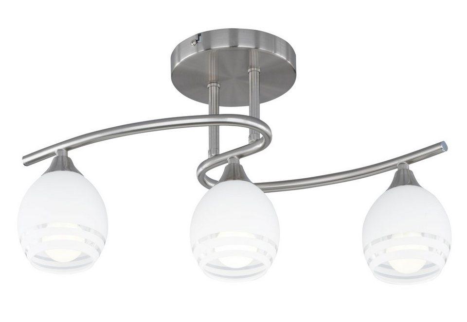 Deckenlampe, Trio in silberfarben