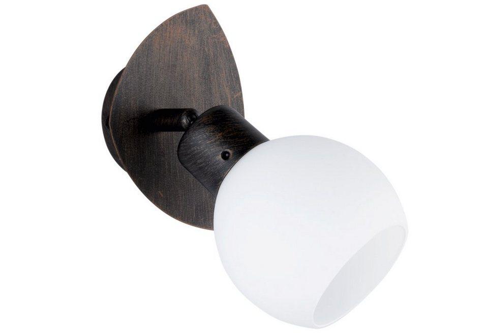 LED-Wandleuchte, Trio in braun