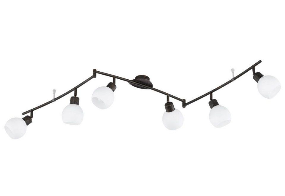 LED-Deckenleuchte, Trio in braun