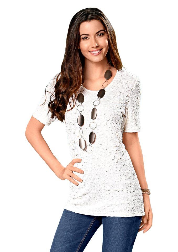 Classic Basics Longshirt in schmeichelhafter A-Form in wollweiß