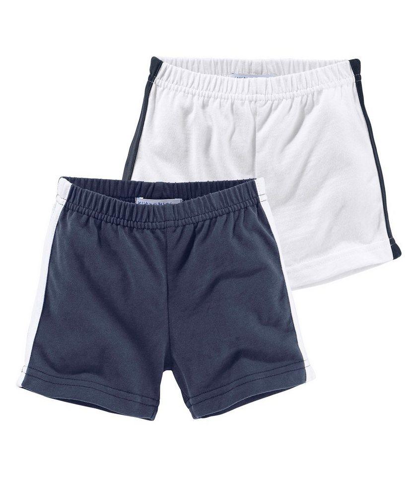 Klitzeklein Shorts (Packung, 2 tlg.) in marine+weiß