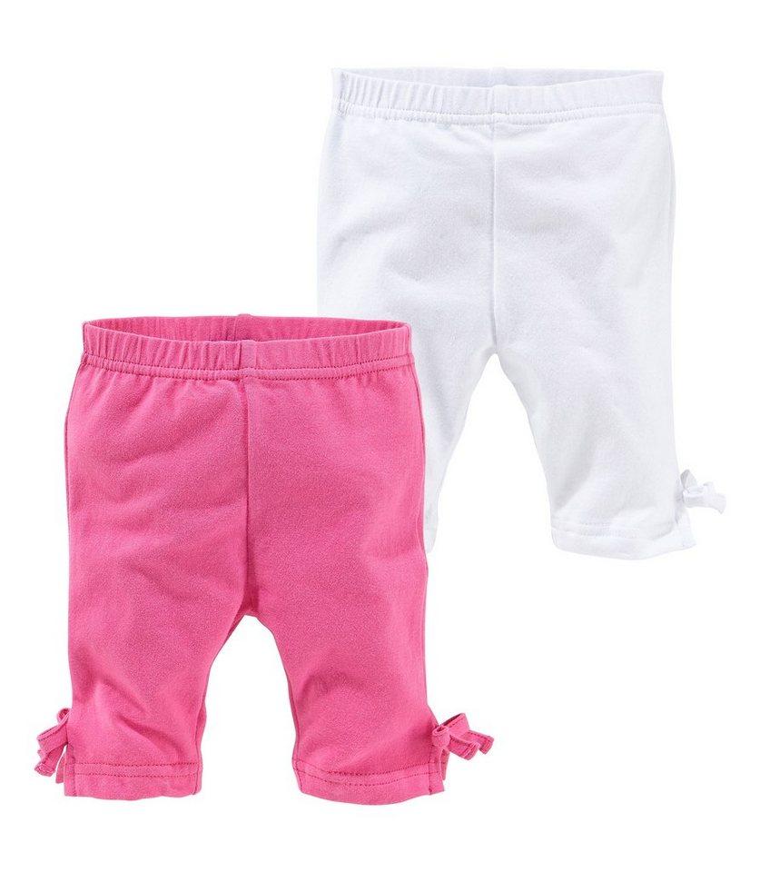 Klitzeklein Leggings (Packung, 2 tlg.) in pink+weiß