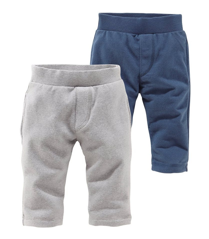 Klitzeklein Jogginghose (Packung, 2er-Pack) in blau+grau