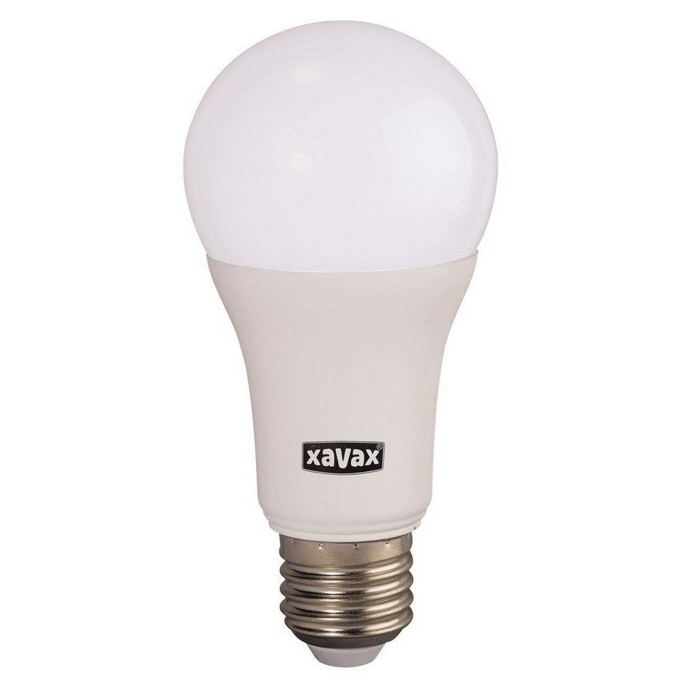 Xavax LED-Lampe, 10,5W, Glühlampenform, E27, Warmweiß in Weiss