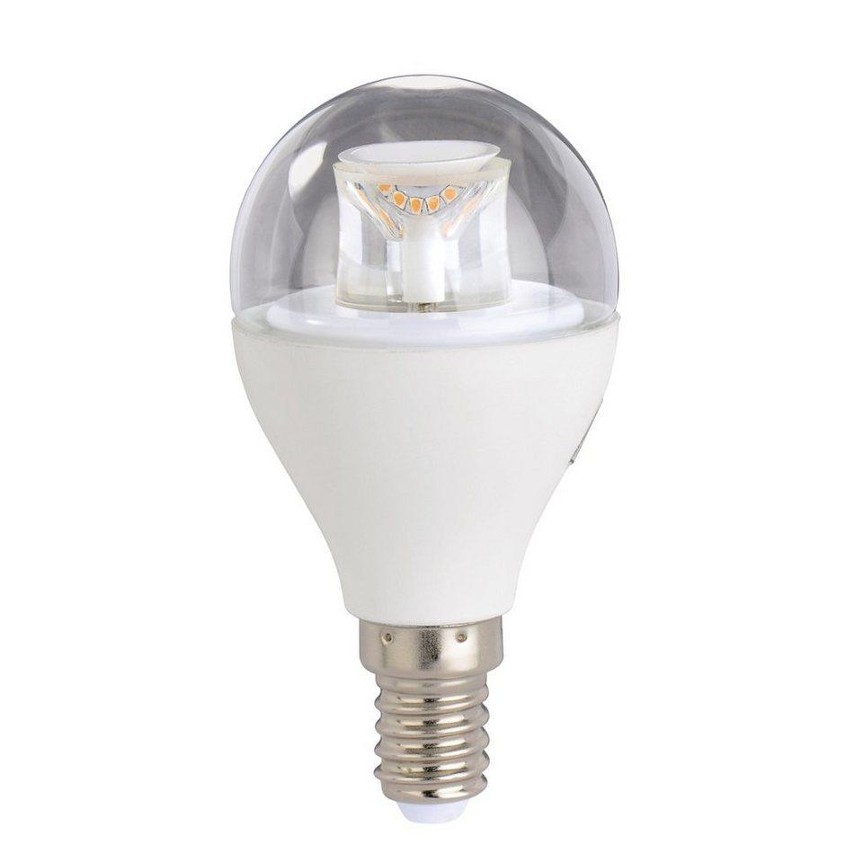 Xavax High Line LED-Lampe, 7W, Tropfenform klar, E14, dimmbar in Weiss