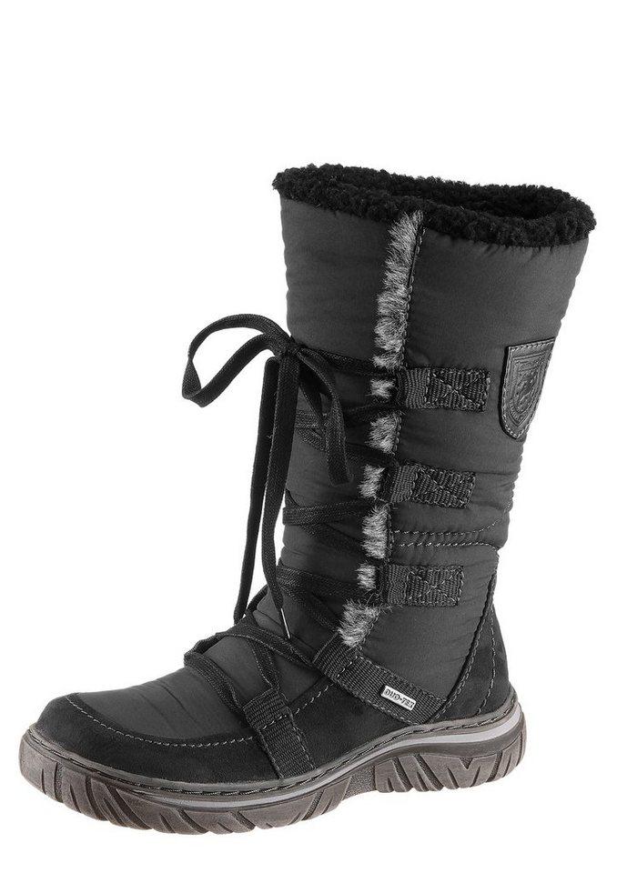 Schlupf-Stiefel von Tamaris mit Tex-Ausstattung in schwarz